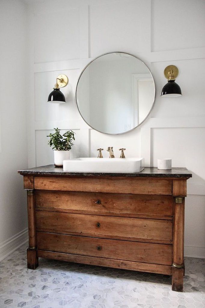 Plumber in hamilton installed vintage bathroom vanity