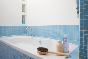 Close up of a bathtub in a Hamilton home