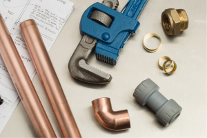 Close up of the plumbing tools of an emergency plumber in Hamilton