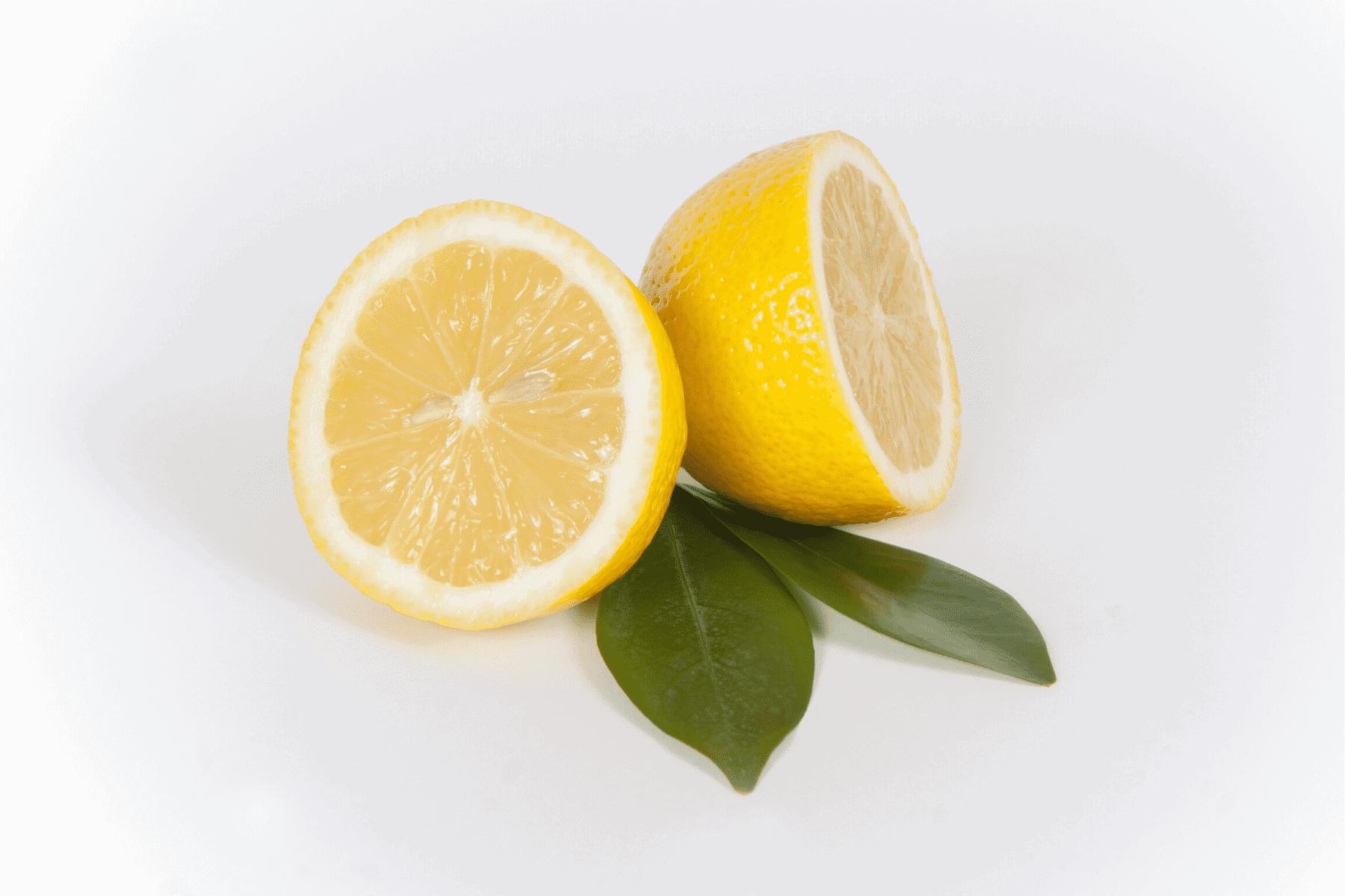 Close up of sliced lemons
