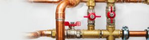 Copper water pipe and valves