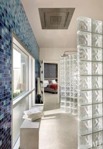 Glass and concrete shower design in Nova Scotia