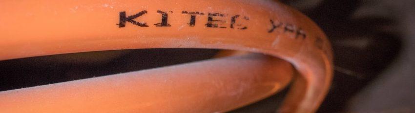 Close up of Kitec orange pipes